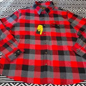 Stanley Workwear Buffalo Plaid Flannel Button Down